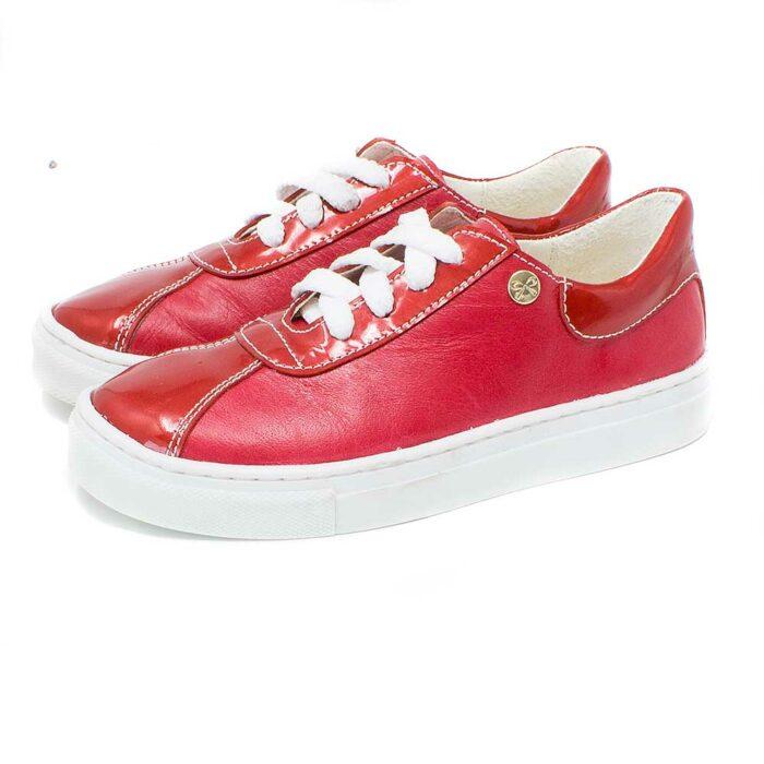 sneaker piel rojo
