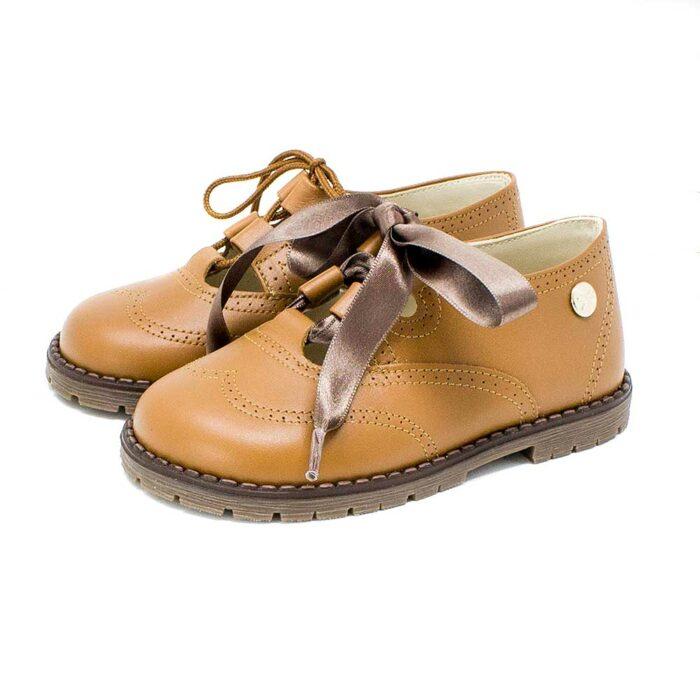 Zapato galés de piel natural color cuero